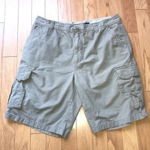 Beverly Hills Polo Club Beige Khaki Cargo Shorts